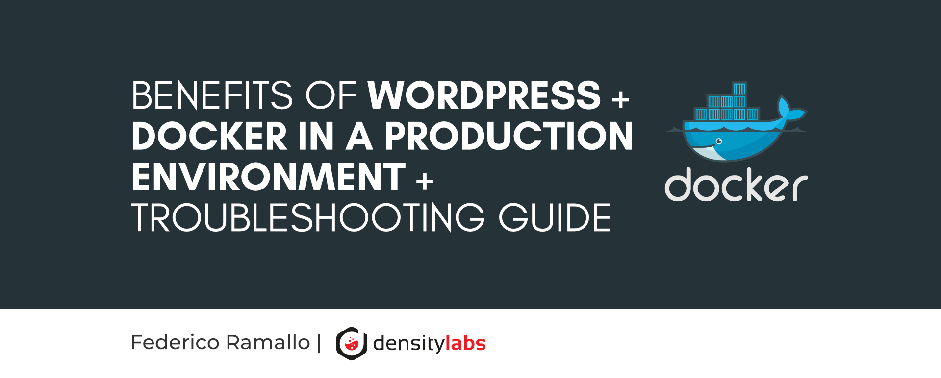 Benefits of WordPress + Docker in a production environment + troubleshooting guide.